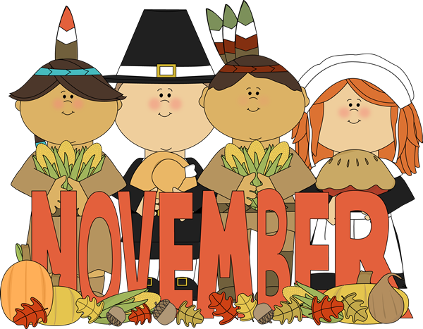 month of november indians pilgrims